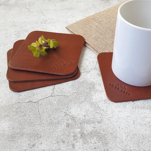 Personalised Leather Coasters