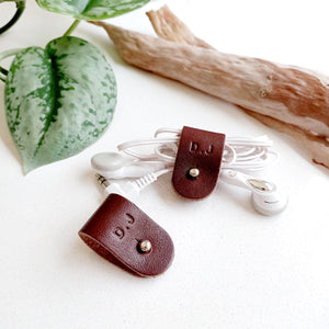 Leather Cord Organisers - Set of 2
