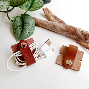 Large Leather Cord Organiser