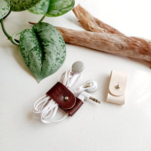 Leather Cord Organiser - 1 pc