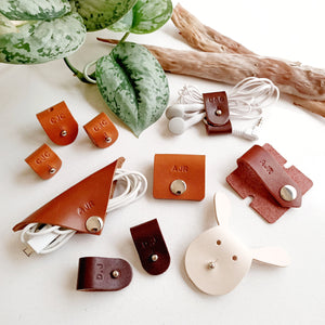 Leather Cord Organisers - Set of 3