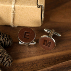 Leather Cufflinks (1 initial)
