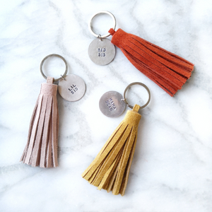 Brown Tassel Keyring