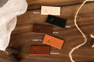 Small leather tag