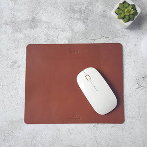 Personalised Leather Mouse Pad - Monogrammed Mousepad - New Job Gift - Gift for Him - Desk Accessories for Men - Gift for Boss