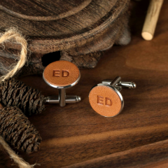 Leather Cufflinks (2 initials)