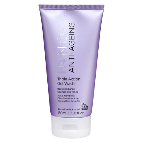 Innoxa_Anti_Ageing_Triple_Action_Gel_Wash_Skincare_Cruelty_Free_Vegan_friendly