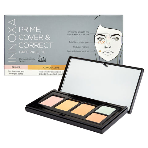 innoxa_cosmetics_prime_cover_&_correct_face_palette_cruelty_free_vegan_friendly