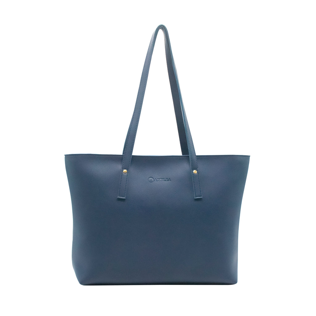 Rexine Tote Bag - Blue