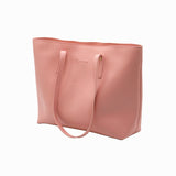 Rexine Tote Bag - Peach