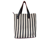 Artilea Ikat Tote Bags - Jail Stripes