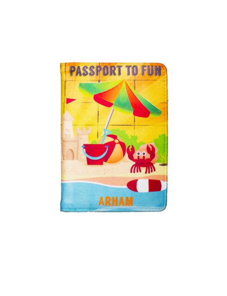 Beach Vacay - Personalized Passport Cover - Suede  Passport Cover Artilea