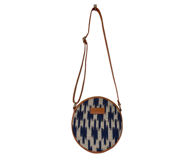 Artilea Ikkat Sling Bag - Blue Cross