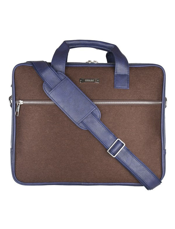 Laptop Bag - SA9026PFSRB - Brown & Blue Strap  Laptop Bag Artilea