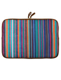 Laptop Sleeve - Polyester Felt Multi Coloured Stripes Print  Laptop Sleeve Artilea