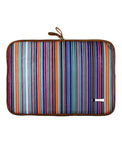 Laptop Sleeve - Polyester Felt Multi Coloured Stripes Print 15 Laptop Sleeve Artilea