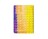 Geometrical Print - Personalized Passport Cover - Suede