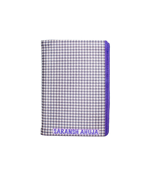 Houndstooth - Personalized Passport Cover - Suede Printed  Passport Cover Artilea