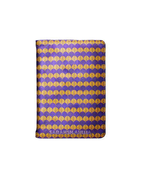 Indian Print - Personalized Passport Cover - Suede  Passport Cover Artilea