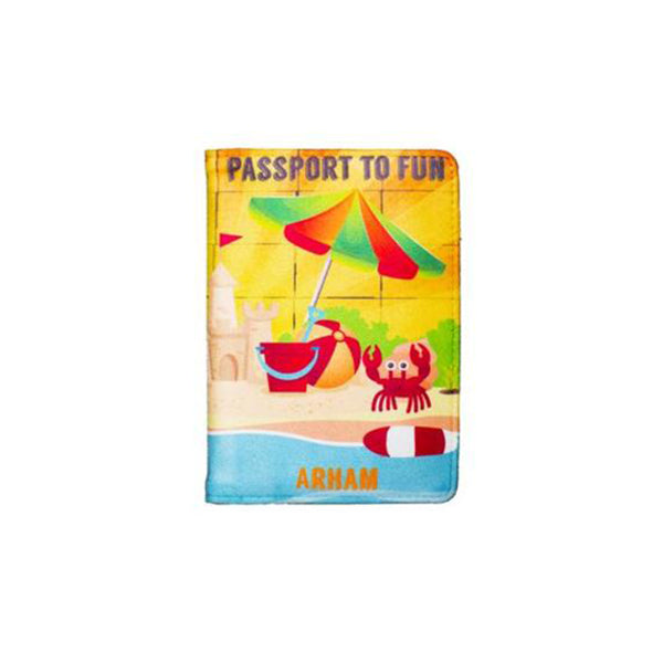 Beach Vacay - Personalized Passport Cover - Suede