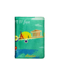 Passport to Fun Printed - Personalized Passport Cover - Suede - Artilea Passport Cover