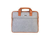 Artilea Laptop Bag - Polyester felt with Faux Leather Trims