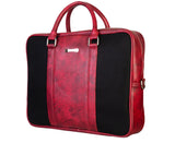 Laptop Bag - Polyester Felt with Faux Leather Trims - Maroon and Black  Laptop Bag Artilea