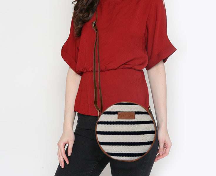 Artilea Ikkat Sling Bag - Stripes