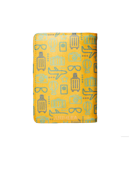 Travel Print - Personalized Passport Cover - Suede - Artilea Passport Cover