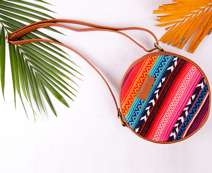 Artilea Ikkat Sling Bag - Colours of India