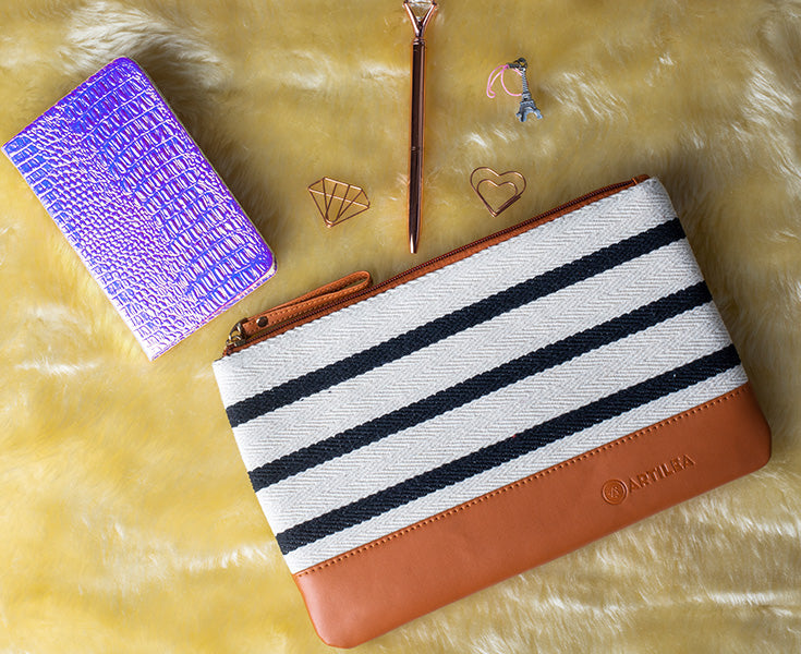 Artilea Ikkat Pouches - Stripes