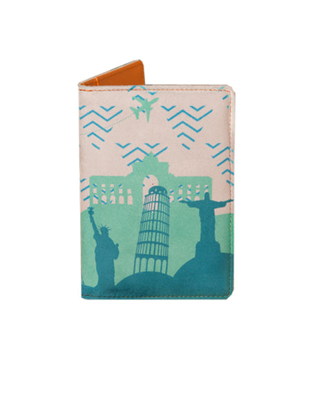 Wonder Blue - Personalized Passport Cover - Suede Printed - Artilea
