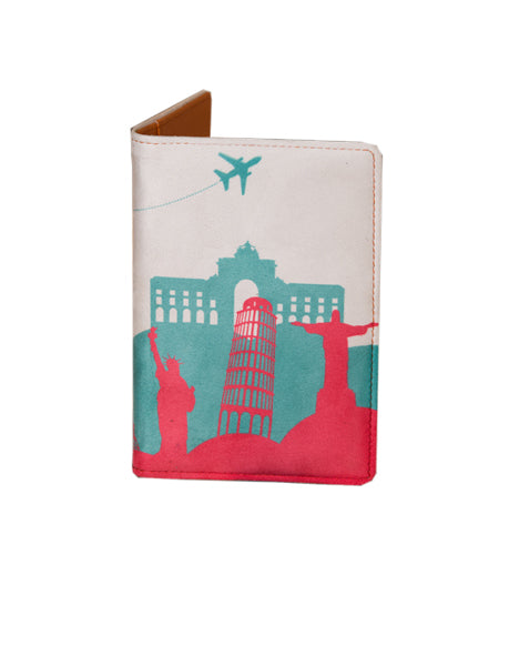 Wonder Pink - Personalized Passport Cover - Suede Printed - Artilea