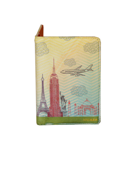 Yellow Skies - Personalized Passport Cover - Suede Printed - Artilea