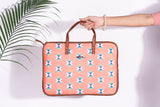 Artilea Laptop Sleeve - Polyester Felt - Salmon Pink Bag with Multiple Arrow Prints