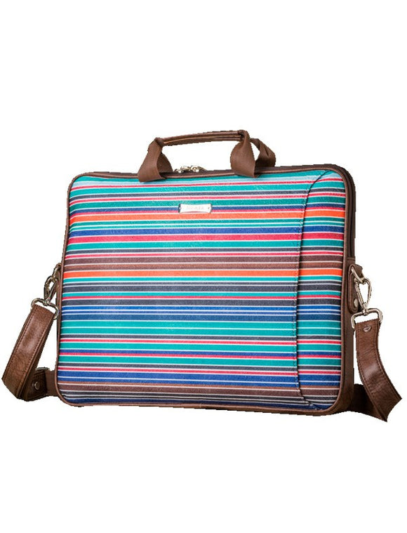Laptop Bag - Polyester Felt with Faux Leather Trims  Laptop Bag Artilea