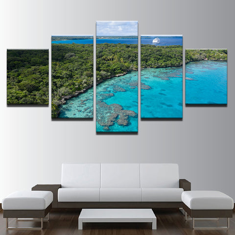 Image of Island Holiday-5 Panel-Canvas Bros