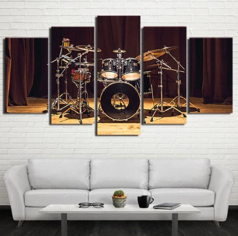 Image of Stage Drums-5 Panel-Canvas Bros