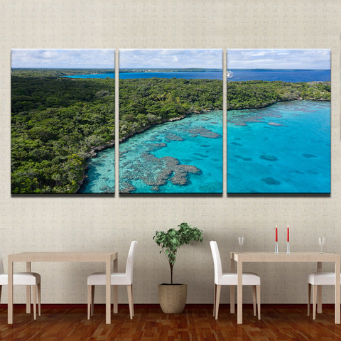 Image of Island Holiday-3 Panel-Canvas Bros