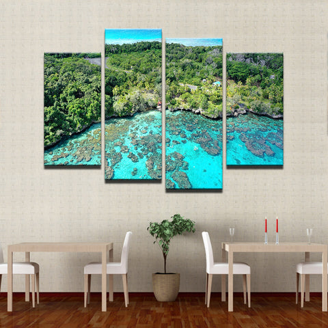 Image of Island Reef Getaway-4 Panel-Canvas Bros
