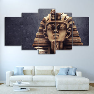 Egyptian Pharaoh-5 Panel-Canvas Bros
