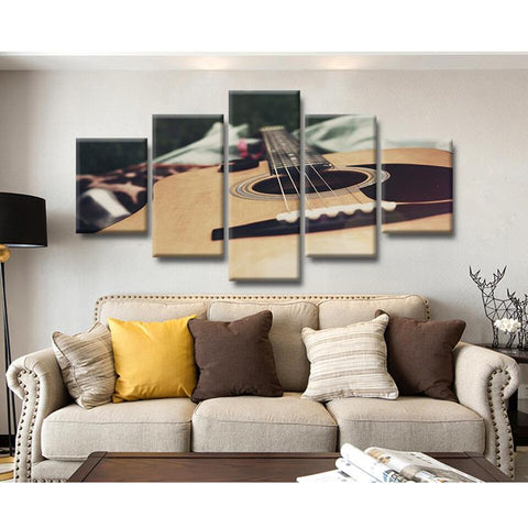 Image of Acoustic Guitar-5 Panel-Canvas Bros