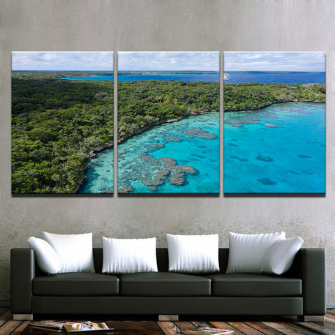 Island Holiday-3 Panel-Canvas Bros
