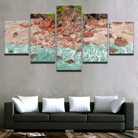 Image of Aussie Red Rocks-5 Panel-Canvas Bros