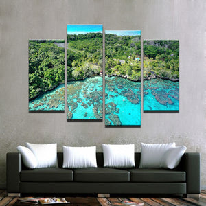 Island Reef Getaway-4 Panel-Canvas Bros