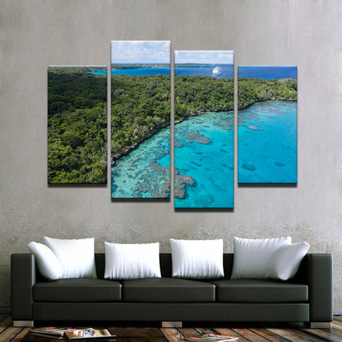 Image of Island Holiday-4 Panel-Canvas Bros