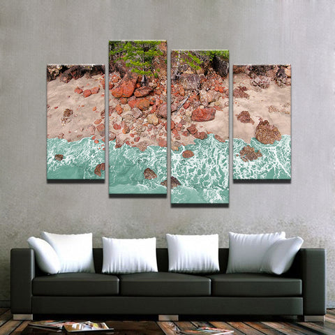 Image of Aussie Red Rocks-4 Panel-Canvas Bros