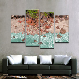 Aussie Red Rocks-4 Panel-Canvas Bros
