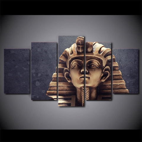 Image of Egyptian Pharaoh-5 Panel-Canvas Bros