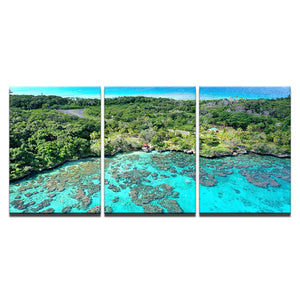 Island Reef Getaway-3 Panel-Canvas Bros